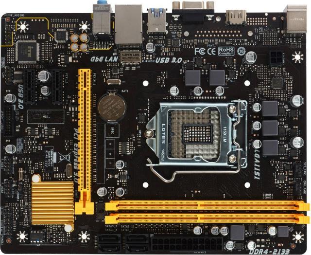 BIOSTAR Intel H110チップセット搭載 LGA1151 Micro ATXマザーボード H110MH PRO D4