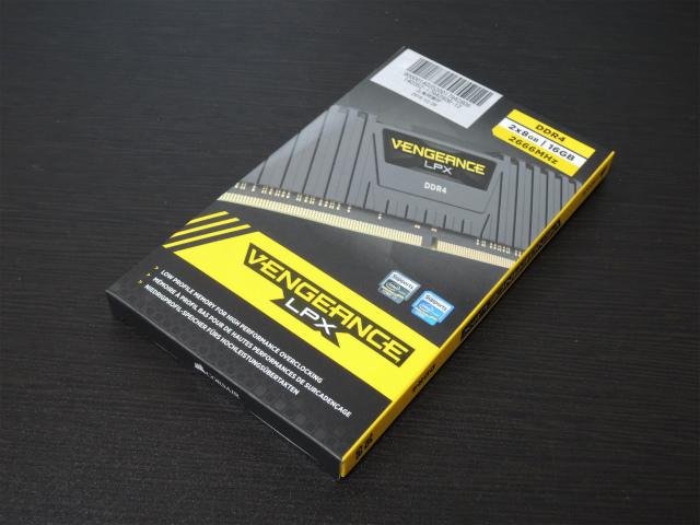 CORSAIR Vengeance LPX デスクトップ用メモリ DDR4-2666 (PC4-21300) 288pin DIMM 8GB×2枚組
