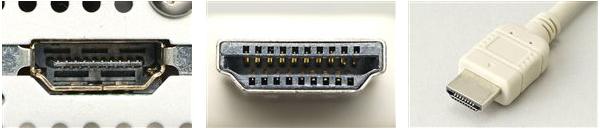 HDMIのケーブルとDisplayPortのケーブルの違い