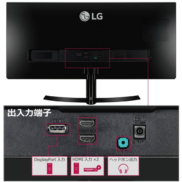LG モニター ディスプレイ 29UM68-P 29インチ/21:9 UltraWide(2560×1080)/IPS 非光沢/HDMI×2、DisplayPort/スピーカー内蔵/ブルーライト低減機能