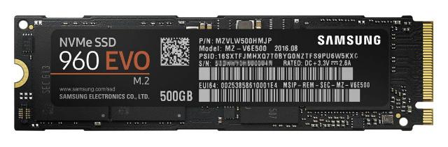 Samsung SSD 500GB 960 EVO M.2 Type2280 PCIe3.0×4 NVMe1.2 V-NAND搭載 3年保証 日本サムスン正規品 MZ-V6E500B/IT
