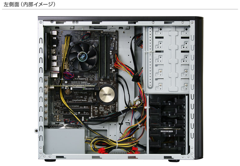 Core i7-8700K搭載したBTOパソコンMonarch-X ZKモナーク-X ZK