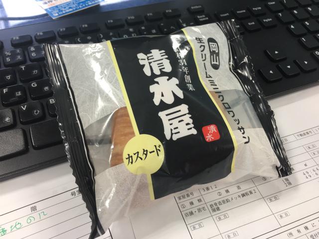 岡山 清水屋生クリームパン カスタード