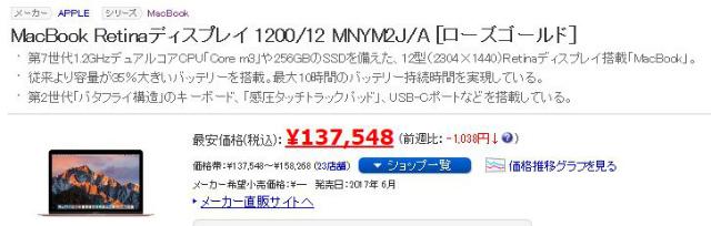 LABI名古屋でMacbook 12インチを5,000円引き&ポイント16%で購入してきた。