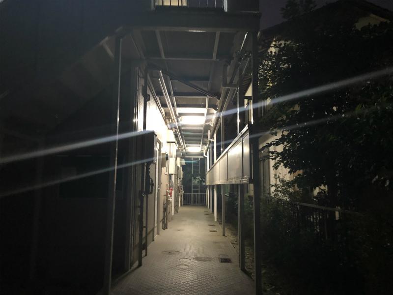 不動産屋さんのお仕事 共用灯のLED交換とダイエット