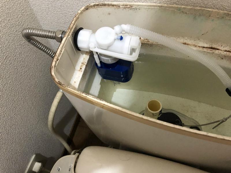 トイレのボールタップの交換をしてみた。