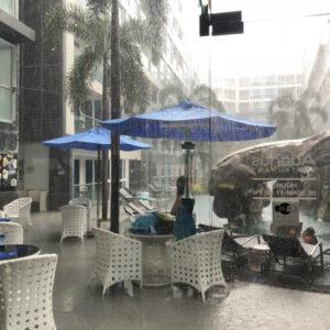 パタヤからバンコクへタクシーでの移動 パタヤは雨で50cmぐらい冠水していたようです。