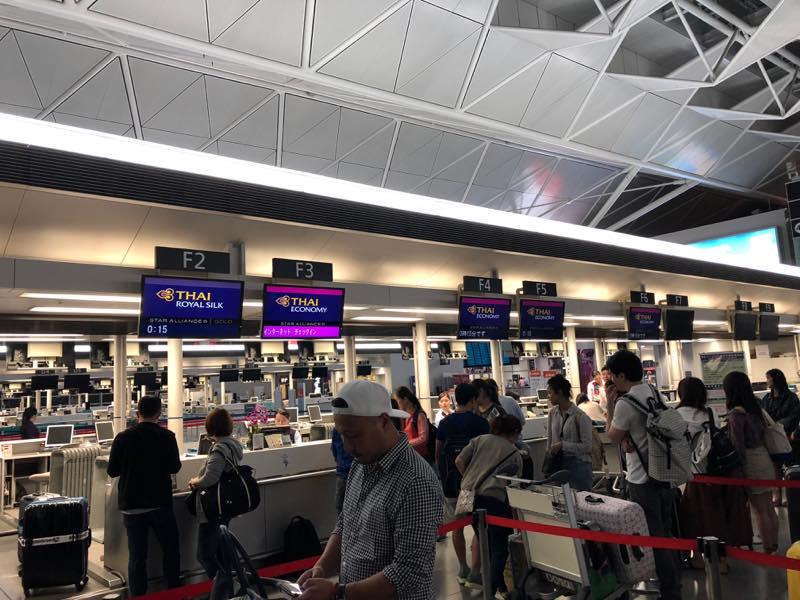 10年振りのタイへ 今回は、セントレア(中部国際空港)からの出発
